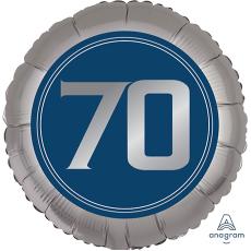 Round 70th Birthday Happy Birthday Man Standard XL Foil Balloon 45cm