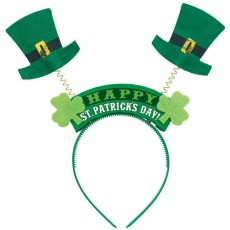 St Patrick's day Party Supplies - Top Hat Headbopper