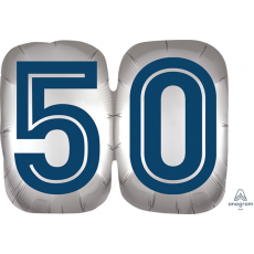 50th Birthday Happy Birthday Man SuperShape Shaped Balloon 63cm x 50cm