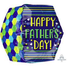 Anglez UltraShape Geometric Happy Father's Day! Shaped Balloon 40cm x 40cm