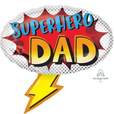 Father's Day SuperShape Superhero Dad Shaped Balloon 68cm x 66cm