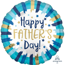 Father's Day Standard HX Painted Stripes Foil Balloon