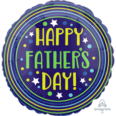 Father's Day Standard HX Circles & Stars Foil Balloon