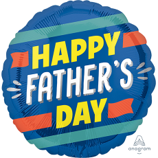 Father's Day Standard HX Stripes Foil Balloon
