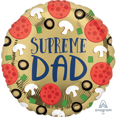 Father's Day Party Decorations - Foil Balloon HX Pizza Supreme Dad