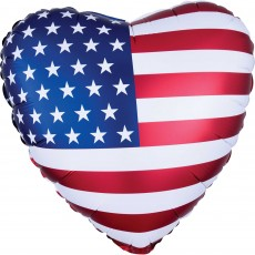 USA Standard XL Patriotic Flag Shaped Balloon