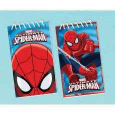 Spider-Man Assorted Colours Ultimate  Notepads Favours