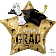 Star Graduation Mutli-Balloon XL Cap & Diploma Gongrats Grad Shaped Balloon 71cm