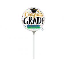 Round Graduation Books Congrats Grad! Foil Balloon 22cm