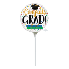 Graduation Hat & Books Foil Balloon