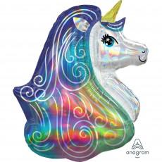 Unicorn Fantasy Party Decorations - Shaped Balloon Super Unicorn Head