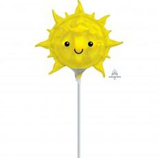 Hawaiian Party Decorations Iridescent Smiling Sun Shaped Balloons