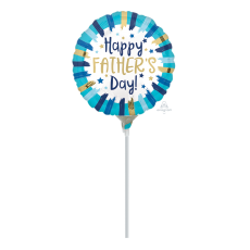 Father's Day Painted Stripes Foil Balloon