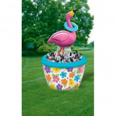 Hawaiian Luau Inflatable Flamingo Ring Toss Game & Cooler