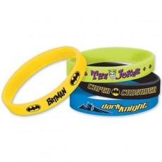 Batman Rubber Bracelets Favours Pack of 6