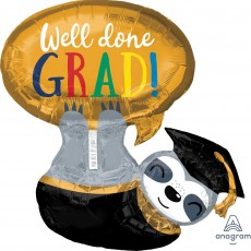 Graduation SuperShape XL Sloth Shaped Balloon