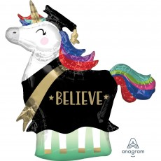 Graduation SuperShape Unicorn Shaped Balloon