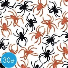 Halloween Orange & Black Spider Ring Favours
