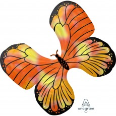 Iridescent SuperShape Holographic  Monarch Butterfly Shaped Balloon