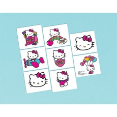 Hello Kitty Rainbow Tattoo Favours 5cm x 4cm 8 Tattoos