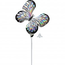 Iridescent Mini Holographic  Butterfly Shaped Balloon