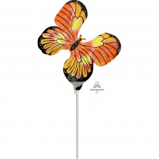 Iridescent Mini Holographic  Monarch Butterfly Shaped Balloon