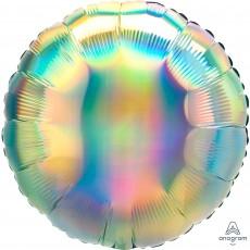 Rainbow Party Decorations - Foil Balloon Std Iridescent Pastel Rainbow