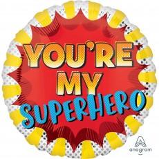 Father's Day Standard HX You're My Superhero Foil Balloon 45cm