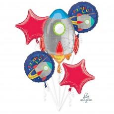 Blast Off Bouquet Standard Foil Balloons Pack of 5