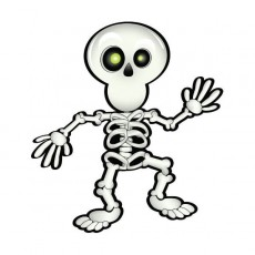 Halloween Party Supplies - Party Games - Pin-The-Smile On The Skeleton