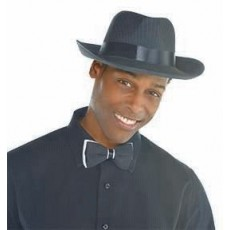 Great 1920's Black Pinstripe Wiseguy Hat Costume Accessorie