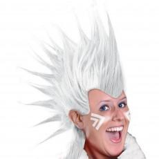 White Mohawk Wig Head Accessorie