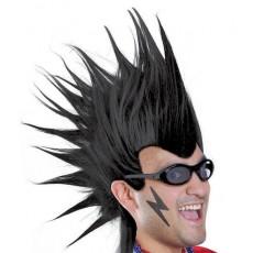 Black Mohawk Wig Head Accessorie