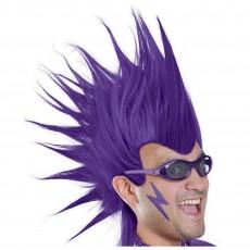 Purple Mohawk Wig Head Accessorie