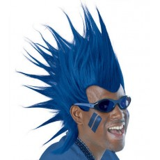 Blue Mohawk Wig Head Accessorie