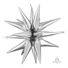 Christmas Party Decorations - Shaped Balloon Large Magic Star Silver