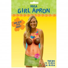 Hawaiian Luau Hula Girl Apron Adult Costume