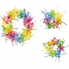 Rainbow Party Supplies - Tinsel Headwreath & Wristlets