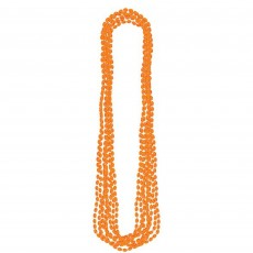 Orange Party Supplies - Metallic Necklace