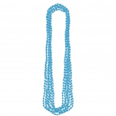State of Origin Party Supplies - Metallic Necklace Light Blue