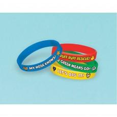 Paw Patrol Rubber Bracelet Favours Pack of 4