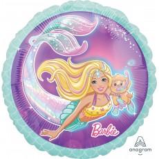 Round Barbie Mermaid Standard HX Foil Balloon 45cm