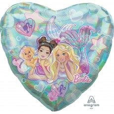 Barbie Mermaid Jumbo Holographic Shaped Balloon