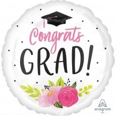 Graduation Jumbo HX Girl Foil Balloon
