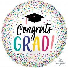Round Graduation Jumbo HX Congrats Grad! Foil Balloon 71cm