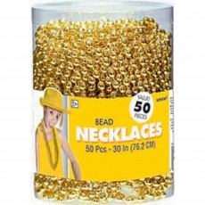 Gold Bead Necklaces Jewellery
