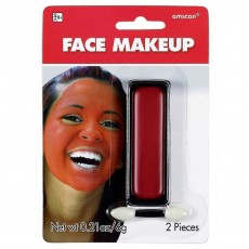 Red Face Makeup Head Accessorie