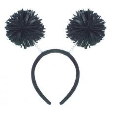 Black Party Supplies - Pom Pom Headbopper