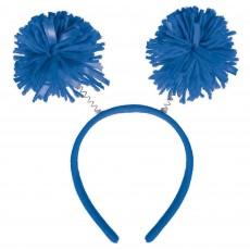 Blue Party Supplies - Pom Pom Headbopper