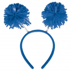 Blue Pom Pom Headbopper Head Accessorie